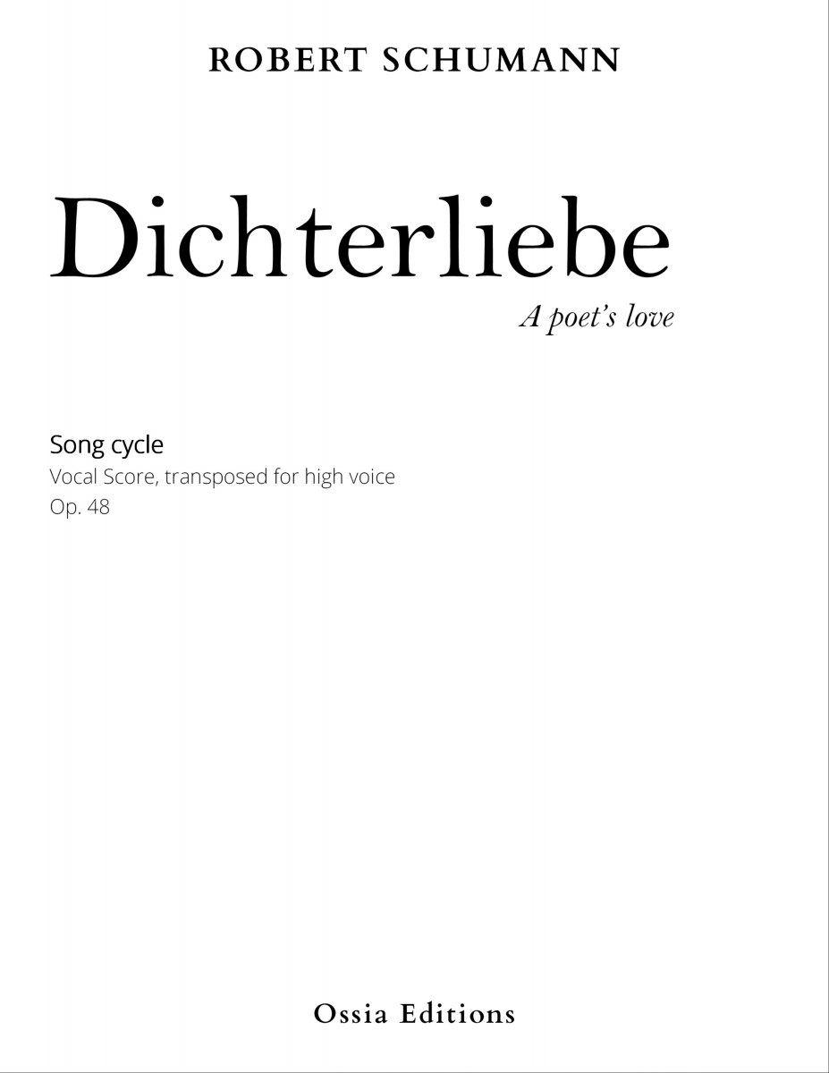 on feet images of best online classic style Dichterliebe, op. 48 (for high voice)