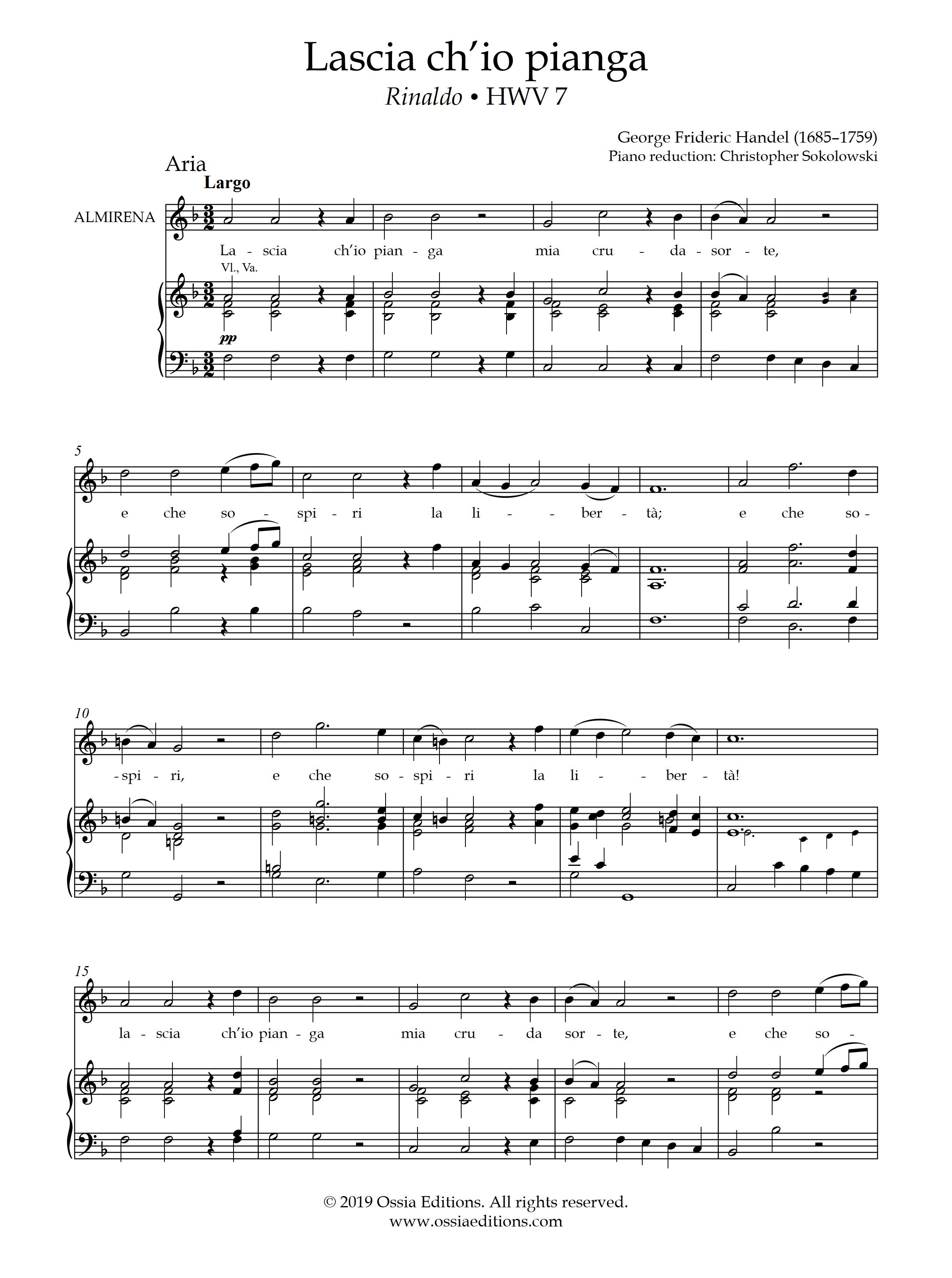 Lascia ch'io pianga Handel OST Antichrist - YouTube